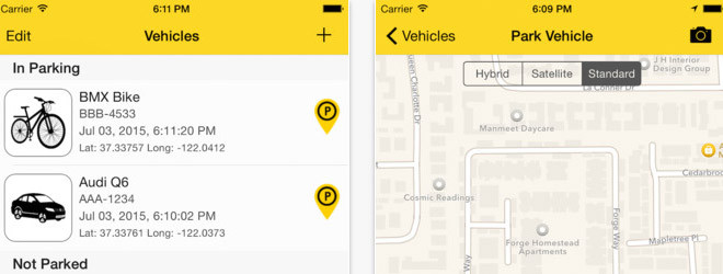 iOS App – Where It Parked
