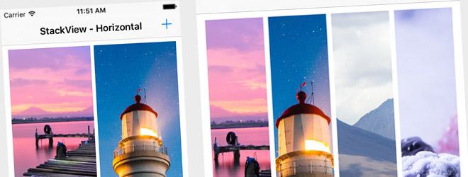 UI Demo - UIStackView - Horizontal (Swift 2, iOS 9)
