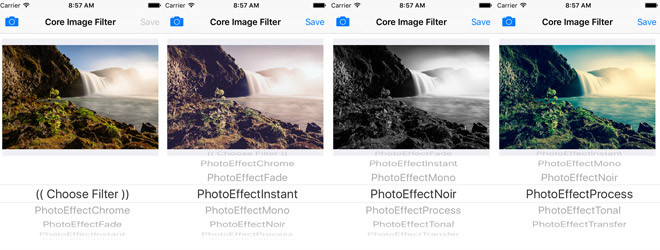 Swift Core Image Filter - CIImage and CIFilter