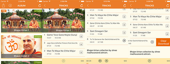 OSM Satsang -- iOS, Swift based Audio Player App.